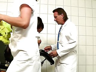 Horn-mad Suntanned German Super-bitch Curly Ann Gets Pulverized Violently By Gynecologist