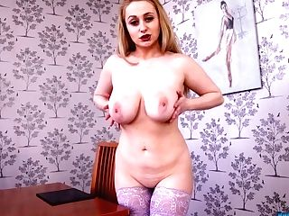 Mouth Watering Cougar Rachael C Shows Off Her Big Breasts And Plum Arse
