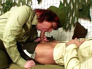 Military Grand-ma Fucks Him In The Barracks - Matures'ndirty