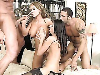 Nikki Sexx And Nikki Daniels Rail Big Spunk-pumps In Bedroom