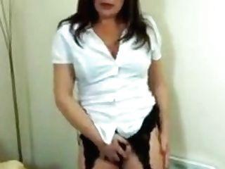Hot Mummy In Black Undergarments