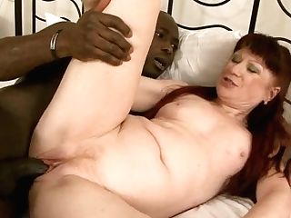 Gross As Hell Black-haired Housewife Rails Lengthy Fat Big Black Cock On Broad Couch