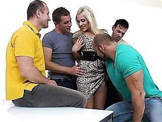 Dirty Big Titted Whore Brittany Bardot Has Nothing Against Gang-fuck