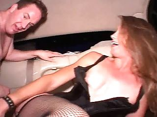 Ample Dark Haired Super-bitch Gets Hammered In Missionary Style Right In Car
