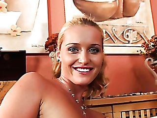 Divine Blonde Stunner With Sweet Smile Opens Her Self-pleasing Secrets
