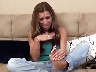 Mummy Smells Her Stinky Feet