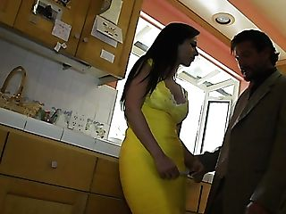 Alluring Whorey Housewife In Yellow Sundress Is Ready To Be Fucked From Behind