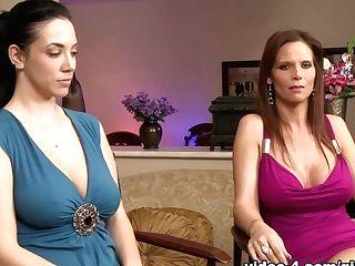 Incredible Sex Industry Stars Syren De Mer, Jelena Jensen, Syren Demer In Fabulous Frigging, Lezzie Adult Scene