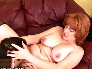 Calliste & Jonny Utah In Big Tits Matures Whore Fucked On The Couch - Mmm100