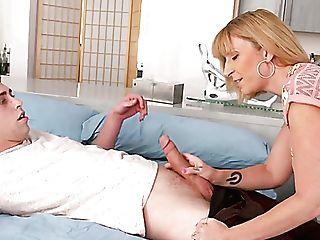 Bosomy Auburn Sexpot In Black Stockings Sara Jay Is Hammered Rear End