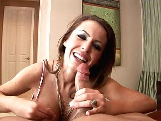 Chocolate-colored Haired Mummy Jenna Presley Knows How To Please A Man